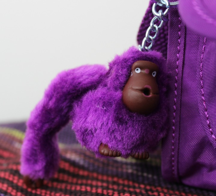 Kipling USA purple monkey keychain Darling