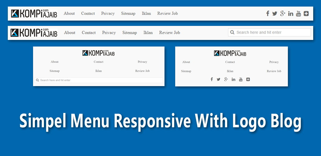 Simple Menu Responsive With Logo And Search Box