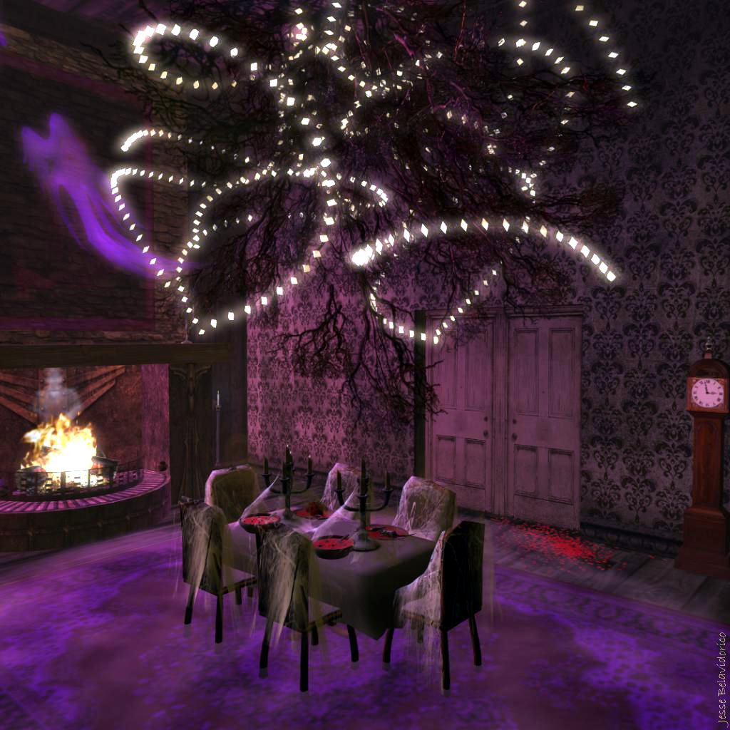 Blithe magazine halloween horror for Haunted dining room ideas