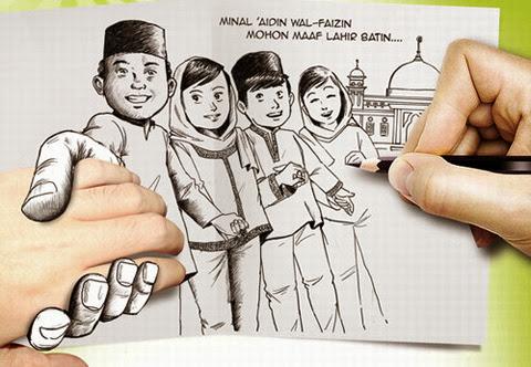 Ucapan Selamat Hari Raya Lebaran Idul Fitri 1435 H