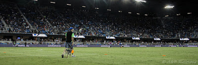 THe Hugh Flying Disc Dog Vader at the Earthquakes Game Halftime Show