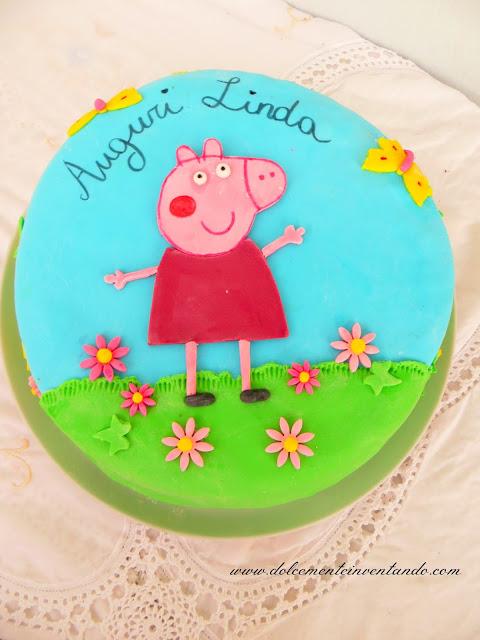 auguri amore della mamma...torta peppa pig per te!