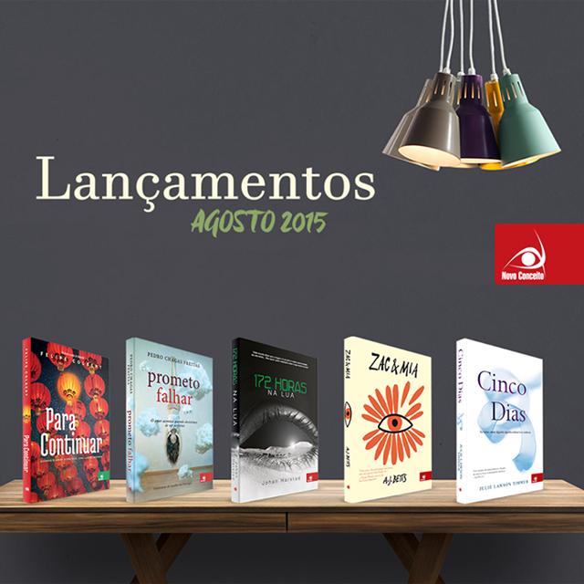 Lançamento de Livros - Agosto / Editora Novo Conceito