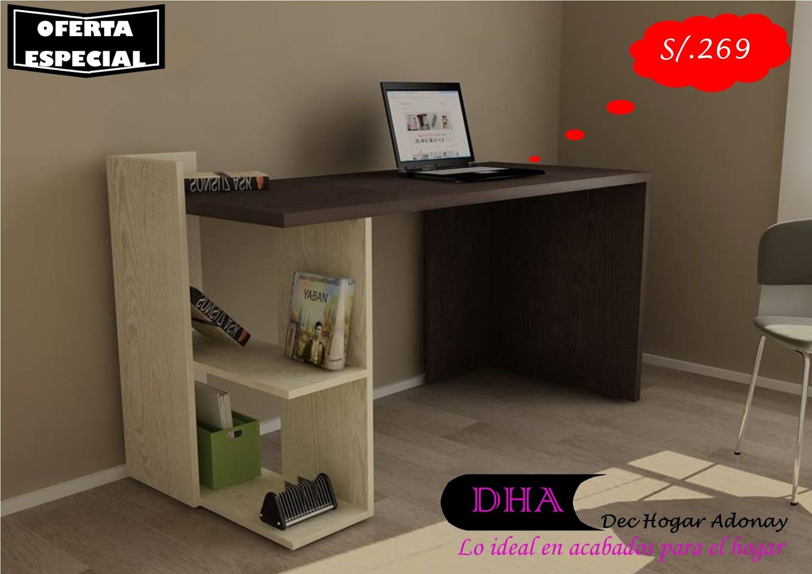 Muebles de melamine y madera en general escritorio for Escritorios modulares modernos