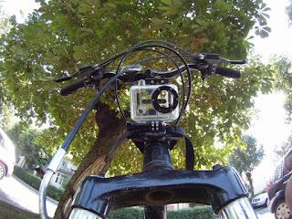 GoPro on Head Tube