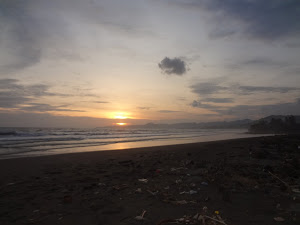 sunset in pelabuhan ratu
