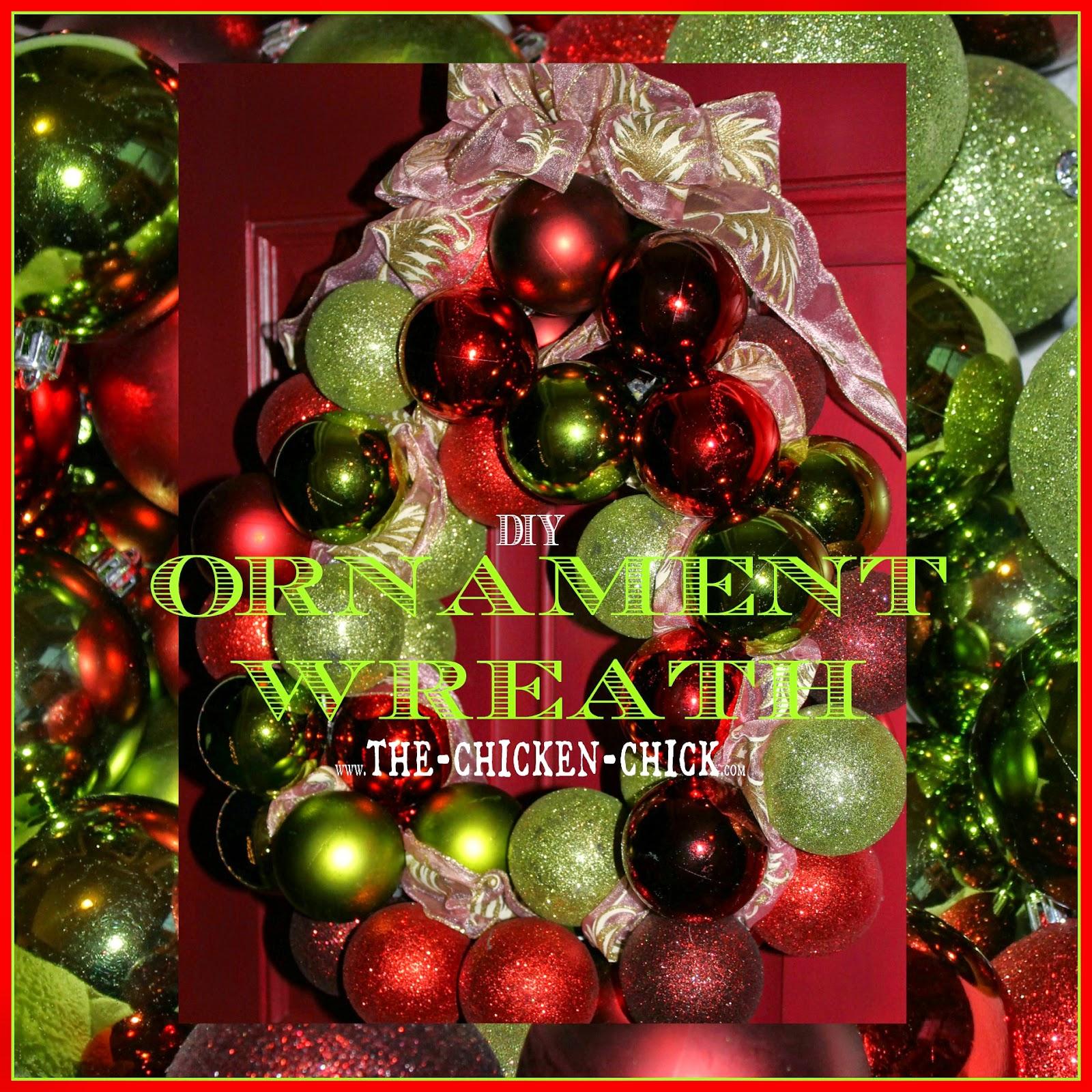 Diy Ornament Wreath The Chicken Chick