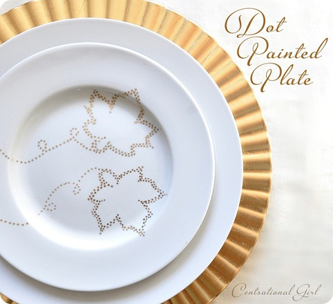 The happy homebodies pinterest challenge diy kate spade for Gold polka dot china