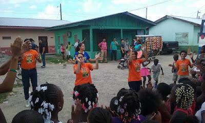 Garifuna, celebrating the children, King's Castle, Honduras