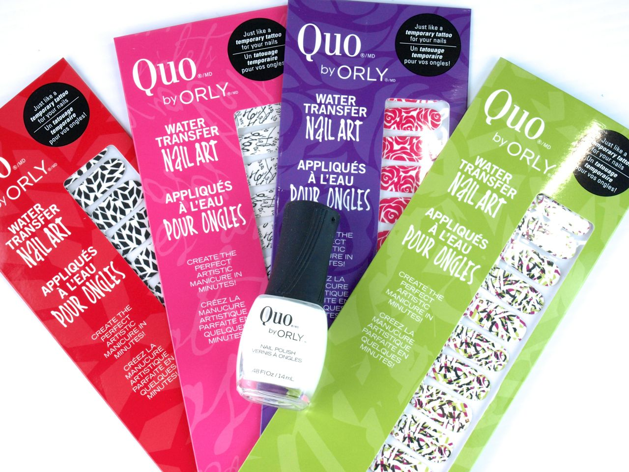 """Quo by Orly Water Transfer Nail Art in """"Mischief"""": Review and Swatches"""