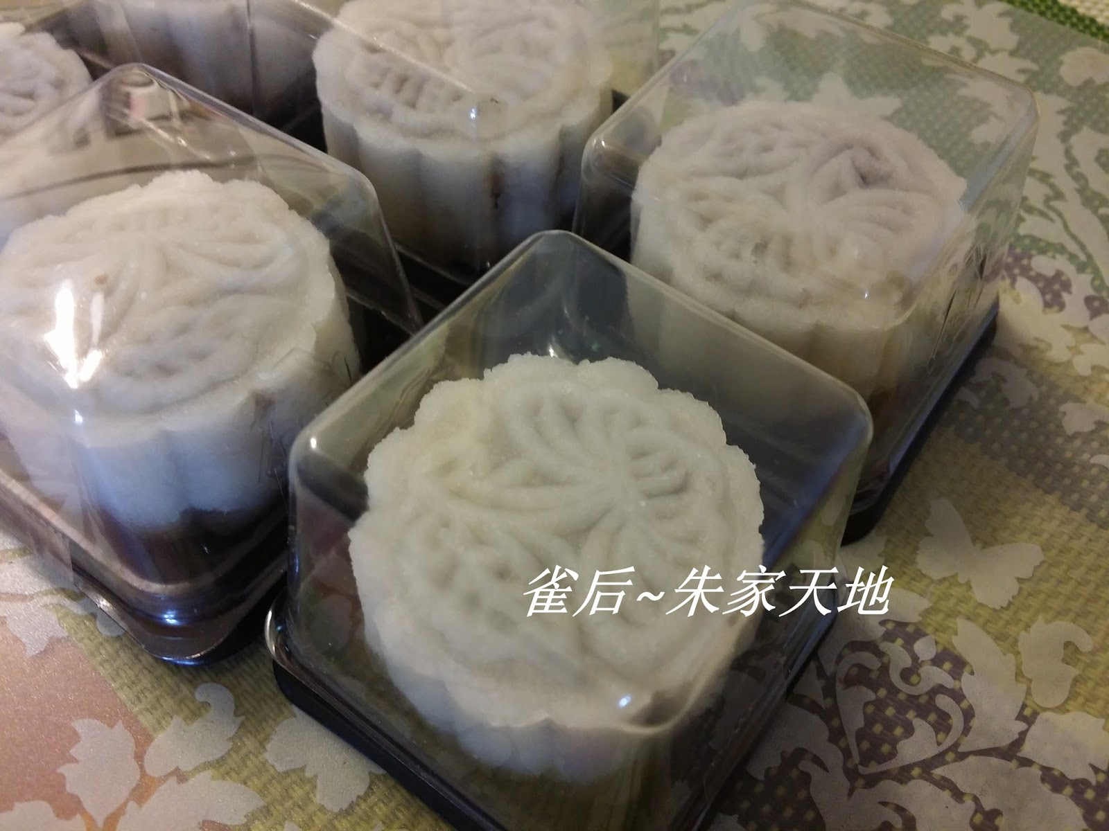 冰皮月餅【豆沙餡料】Ice-skin Mooncakes with Red Bean Paste …_插圖
