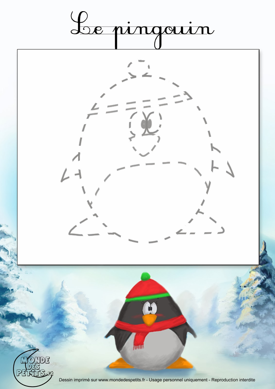 Sgblogosfera mar a jos arg eso dibujamos la navidad - Pingouin a dessiner ...