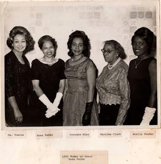 Ms. Towles, Rosa Parks, Corretta Scott King, Septima Clark, Annelle Ponder