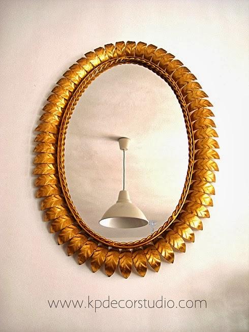 Kp tienda vintage online espejo sol vintage dorado - Espejos antiguos de pared ...