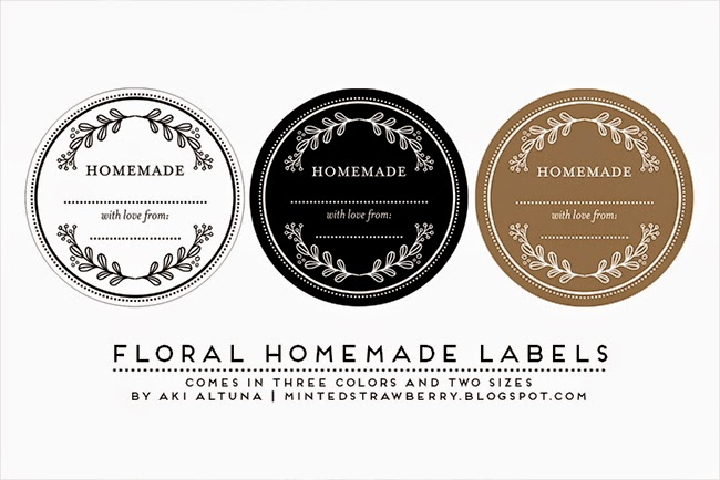 graphic about Free Printable Mason Jar Labels named No cost Printable: Floral Handmade Mason Jar Labels - Minted