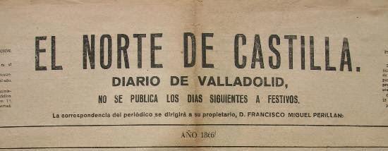 El Norte de Castilla, año 1866