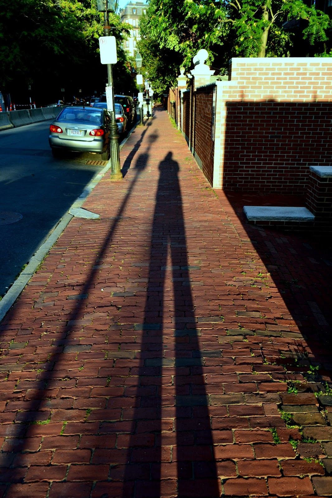 shadowshot, shadow, selfie, brick, sidewalk, boston
