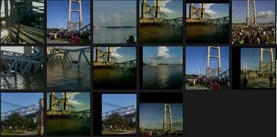 foto jembatan tenggarong kaltim runtuh border=