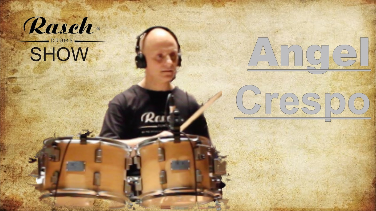 cartel de angel crespo en rasch drums show