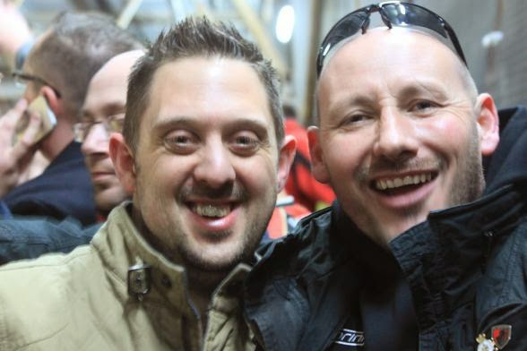 A 1-5 win puts the smiles back on AFCB fans' faces - Dean and Stuart certainly had a good night!