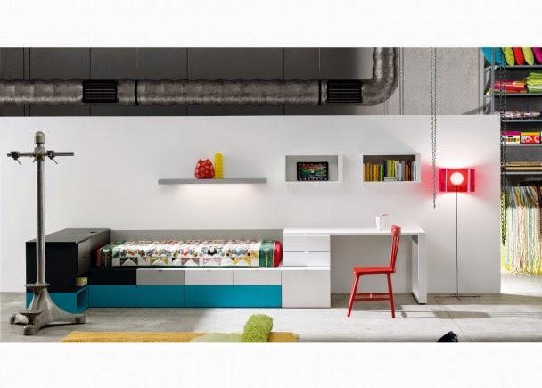 2 camas con cajones for Camas juveniles con cajones abajo