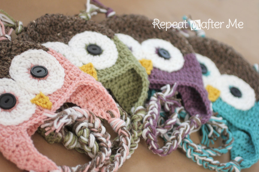 Crochet Chunky Owl Hat Pattern : Crochet Owl Hat Pattern in Newborn-Adult Sizes - Repeat ...