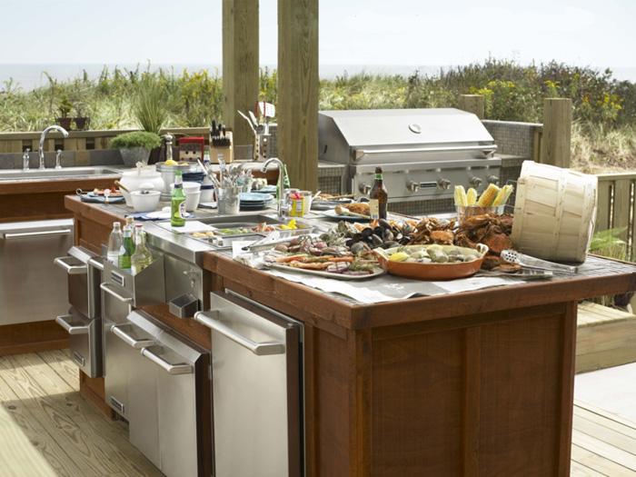 Decoraci n de cocinas para el verano kansei cocinas for Cocinas para jardin