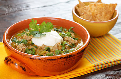 Crock Pot Turkey White Bean Pumpkin Chili Recipe from Skinnytaste found on SlowCookerFromScratch.com