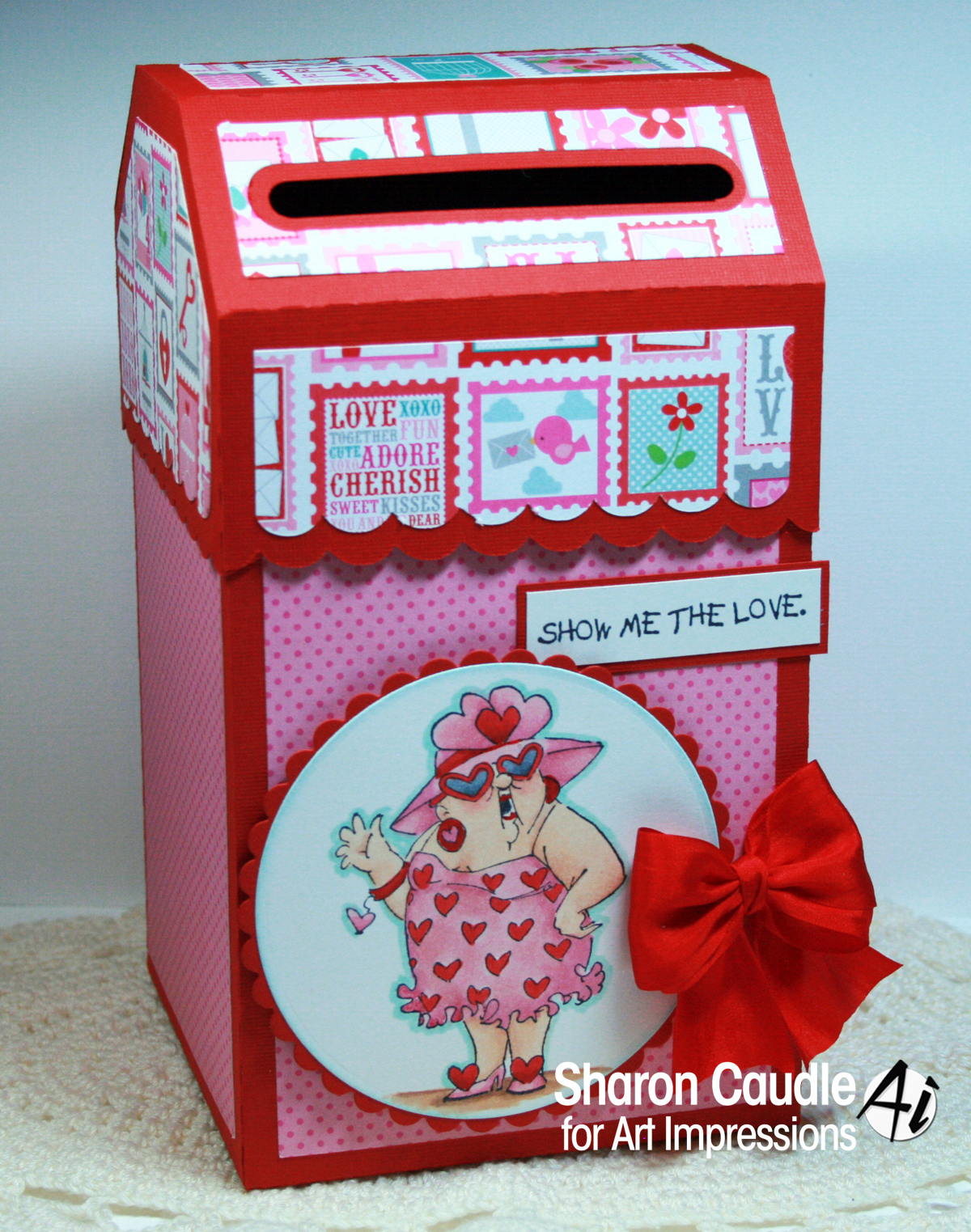 Art Impressions Blog Valentine love letter box by Sharon Caudle