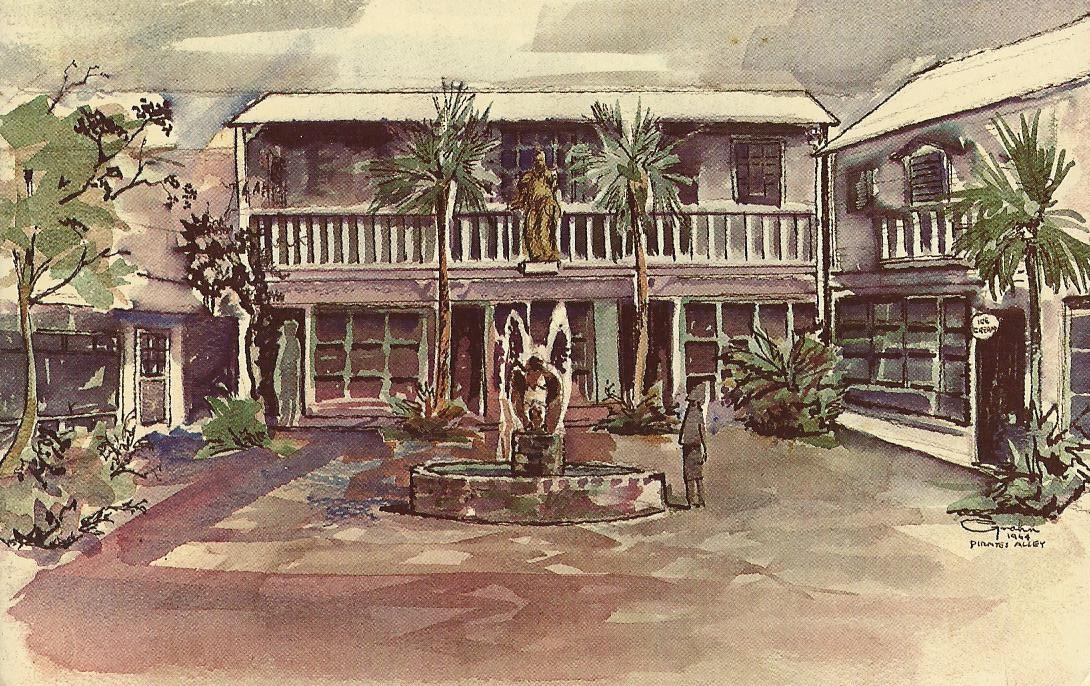 Vintage travel postcards key west florida for Classic house keys samplephonics