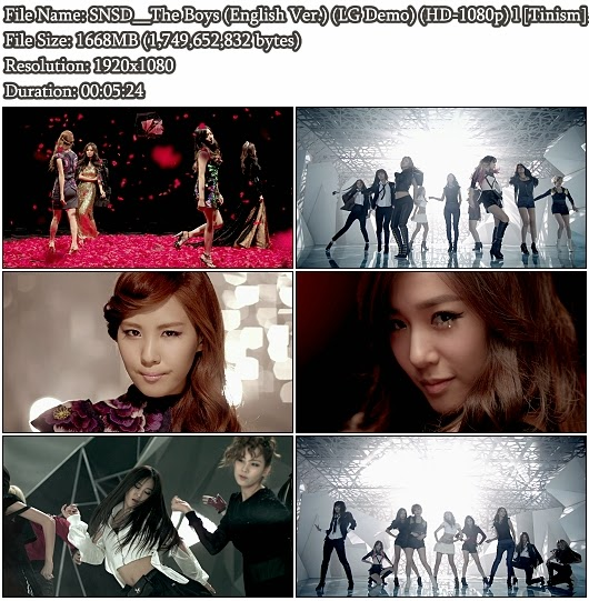 Download MV SNSD (Girls' Generation) - The Boys (English Ver.) (LG 2D Demo Bluray Full HD 1080p)