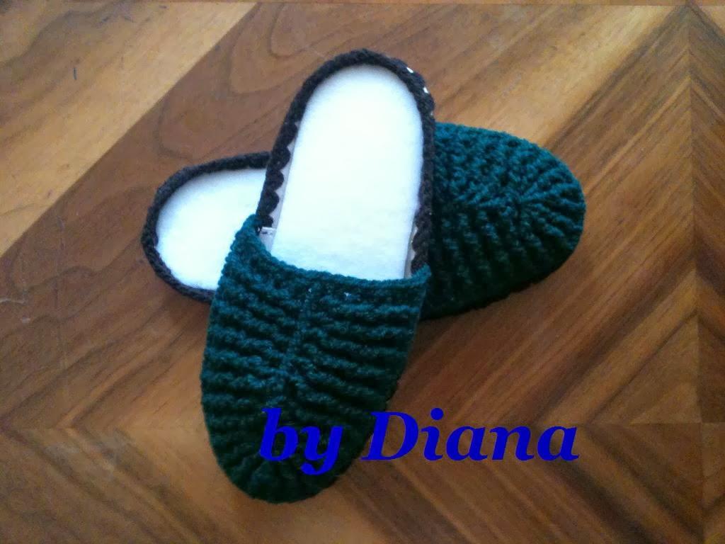 Diana es crochet: Pantuflas para niño en crochet
