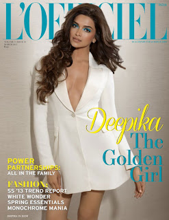 Hot Deepika Padukone on the cover of L'Officiel India (March 2013)