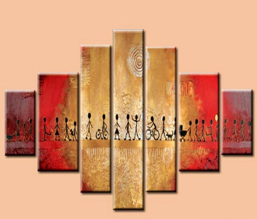 Cuadros modernos abstractos tripticos dipticos texturados - Cuadro decorativos modernos ...