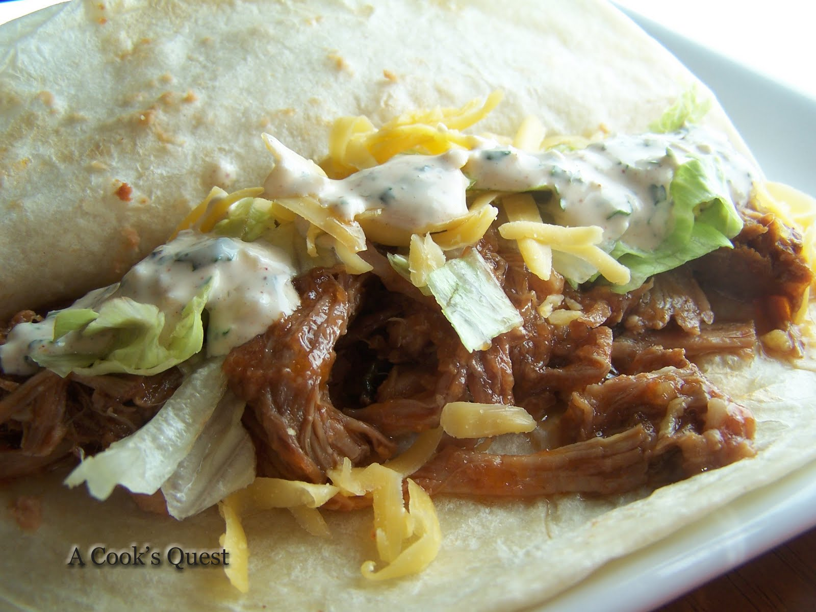 Cook's Quest: Sweet Shredded Pork Tacos with Cilantro Chili Lime ...