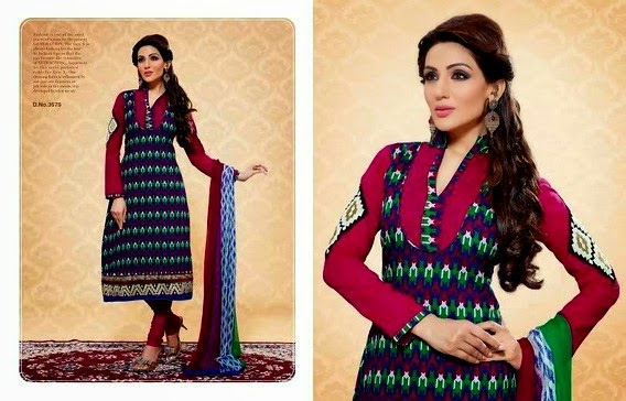 embroidered anarkali suits 2014