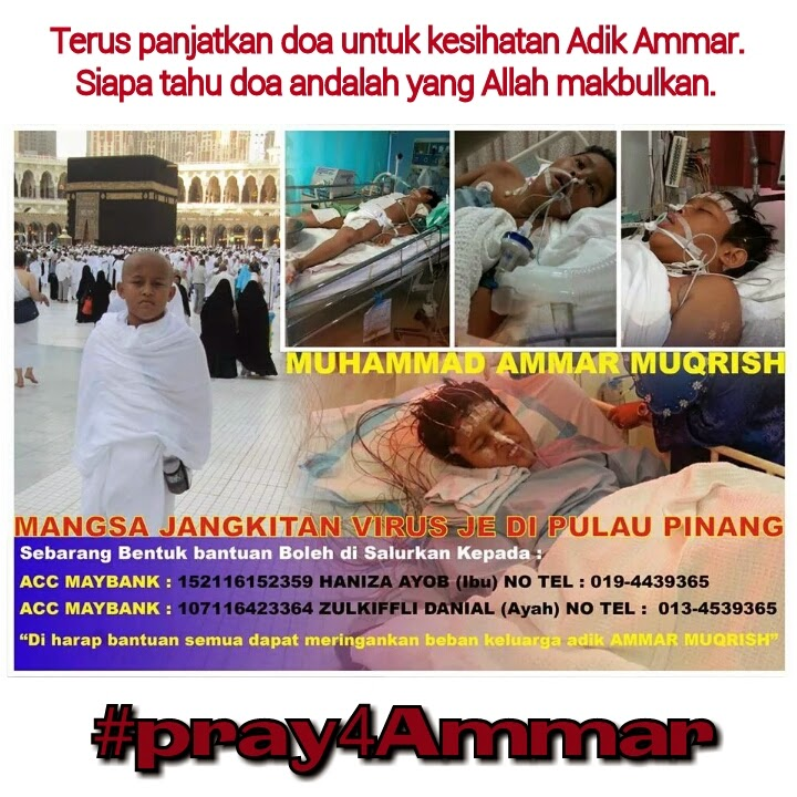 Ammar Muqrish Mangsa JE di Pulau Pinang