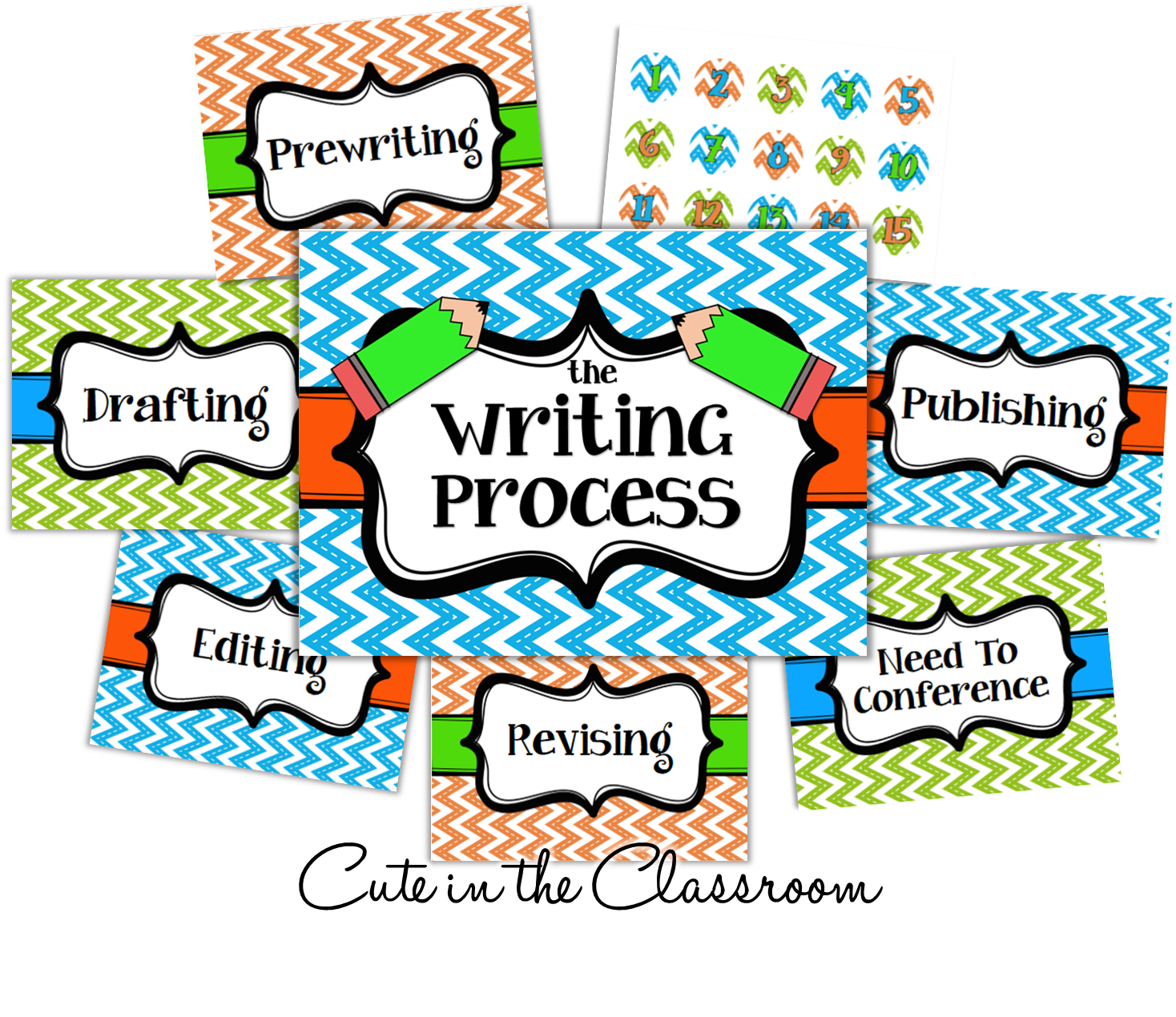 http://www.teacherspayteachers.com/Product/The-Writing-Process-Chart-FREEBIE-1351802