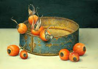Bodegones Realistas con Frutas Rojas