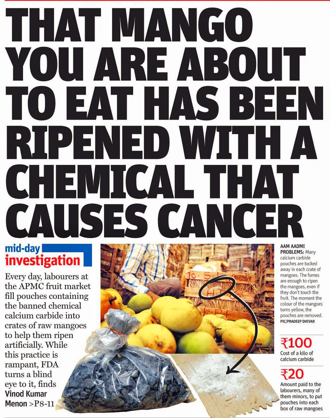 That Mango You Are About To Eat Has Been Ripened With A Chemical That  Causes Cancer!