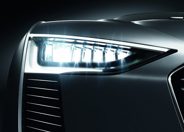 Audi E-tron Spyder LED headlights HD Wallpaper