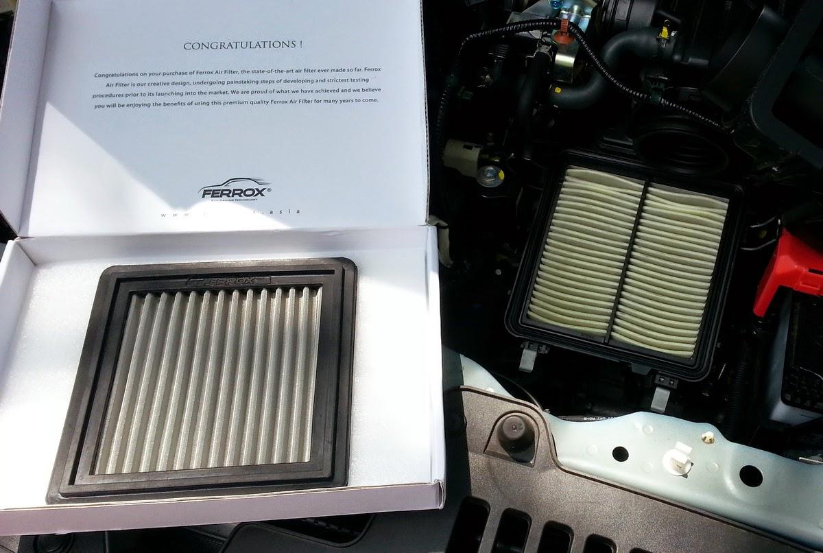Review Air Filter Ferrox Di Honda Mobilio Dibandingkan Hasil