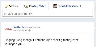 fans page keldaniaz di facebook - screenshoot