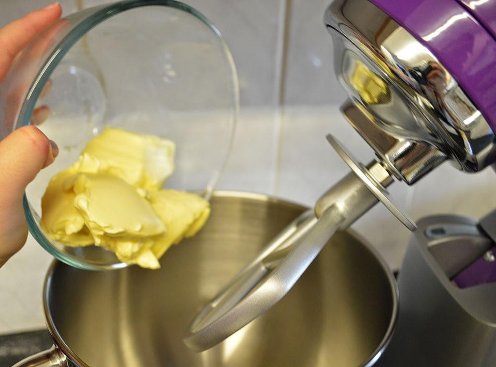 Butter added to kMix kitchen machine