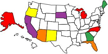 States Where We Found Gold
