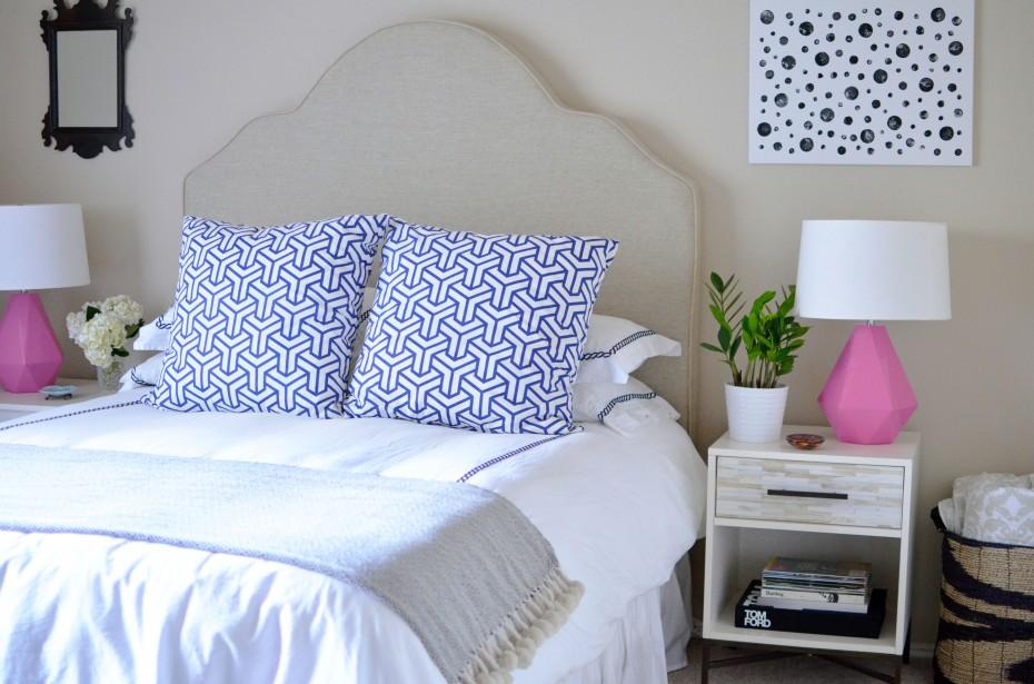 Boho deco chic 2 dormitorios en gris y rosa - Dormitorio gris ...