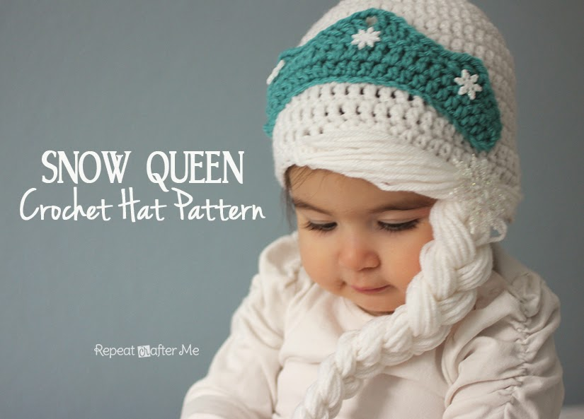Repeat Crafter Me: Crochet Snow Queen Hat Pattern