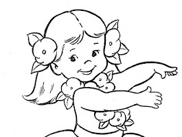 Hawaiian Hula Girl Coloring Pages