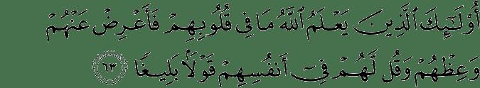 Surat An-Nisa Ayat 63