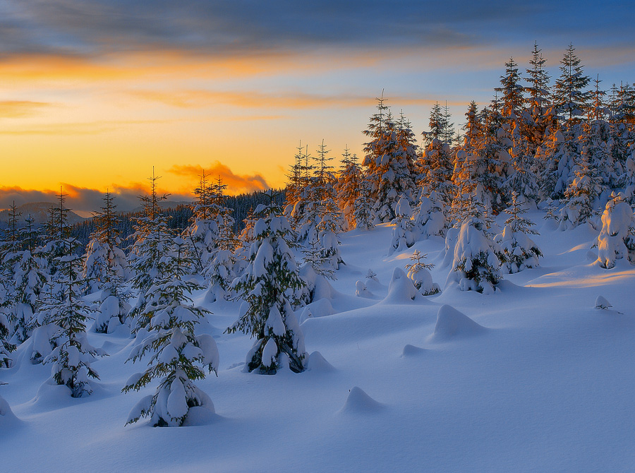 Waleed Wallpapers: Snow Mountain Sunset Wallpapers